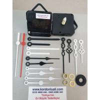 Saat Mekanizması Askılı Akar Şaft 22 mm Plastik Akrep Yelkovan 100 Ad