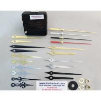 Saat Mekanizması Askısız Akar Şaft 14 mm Metal Akrep Yelkovanlı 100 Ad