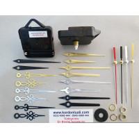 Saat Mekanizması Askılı Akar Şaft 14 mm Metal Akrep Yelkovan 100 Ad