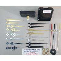 Saat Mekanizması Askısız Akar Şaft 18,5 mm Metal Akrep Yelkovan 100 Ad